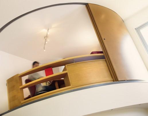 Maison contemporaine - bureau sur mezzanine