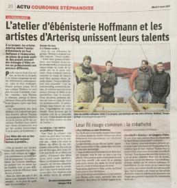 Le Progres 2021 03 Cohabitation artistique Hoffmann/Arterisq