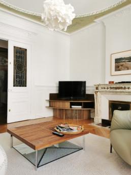 Console TV en situation dans le salon Meuble Paul Hoffmann