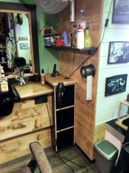 Barbershop meuble détail ©Atelier Paul Hoffmann