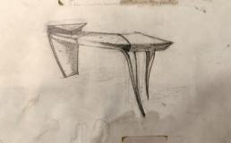 dessin crayon du petit écritoire