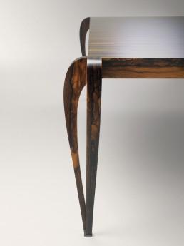 Table remarquable bois de Ziricote Paul Hoffmann